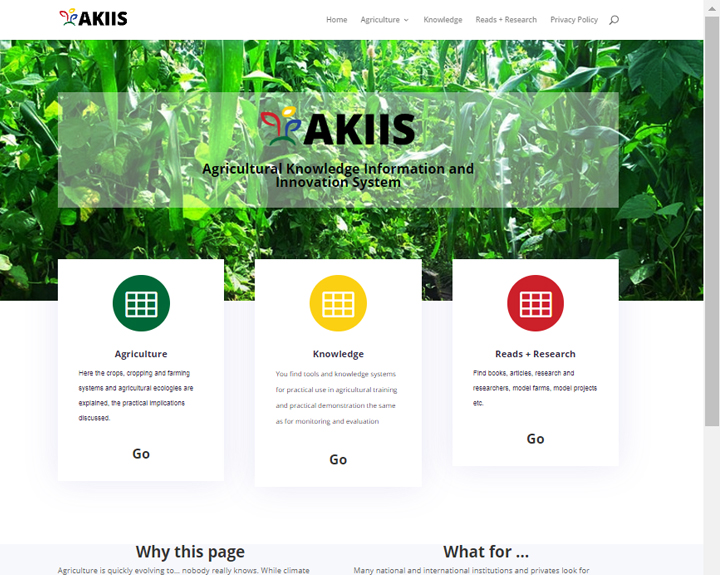 AKIIS - Agricultural Knowledge Information and Innovation System